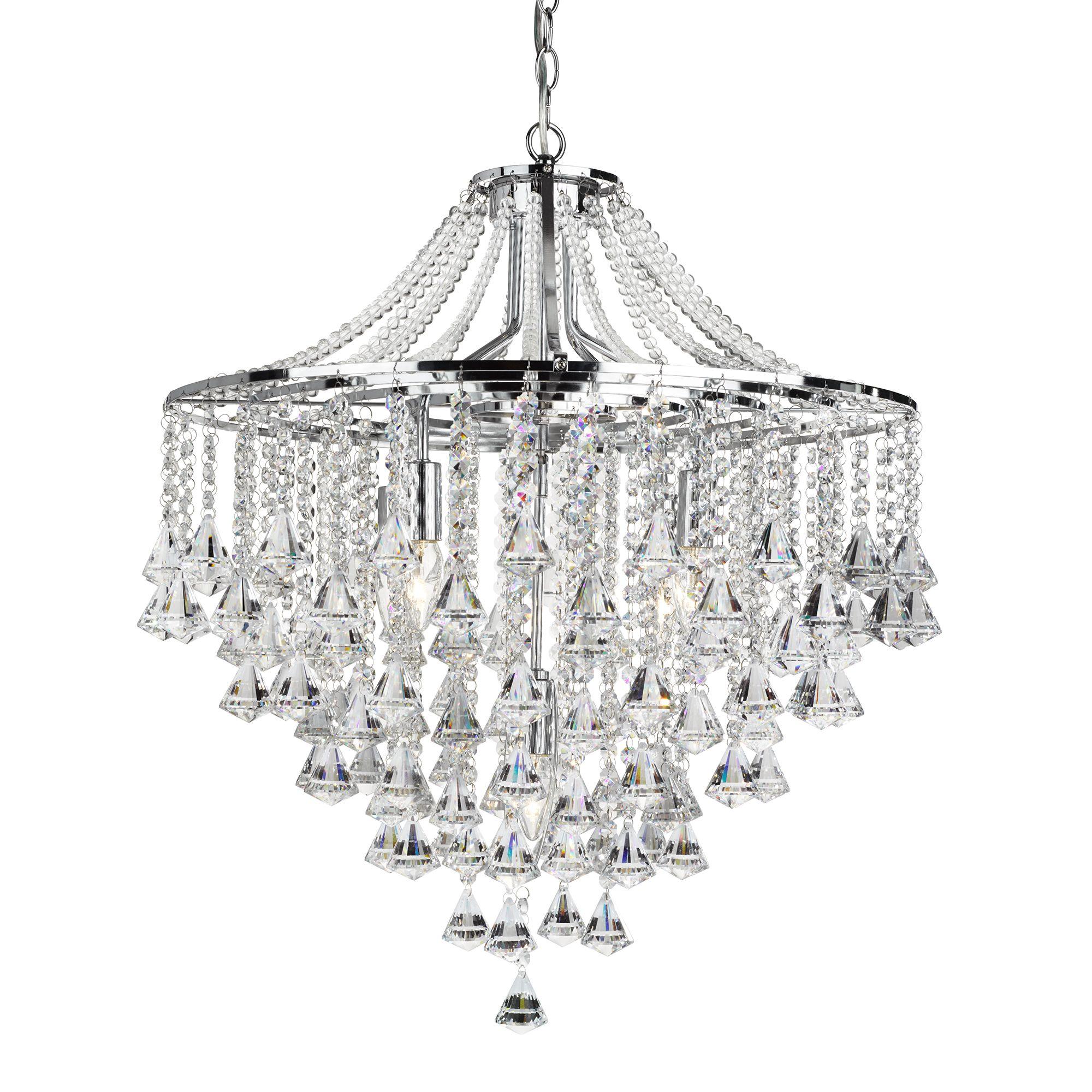 Searchlight Dorchester kristály lámpa
