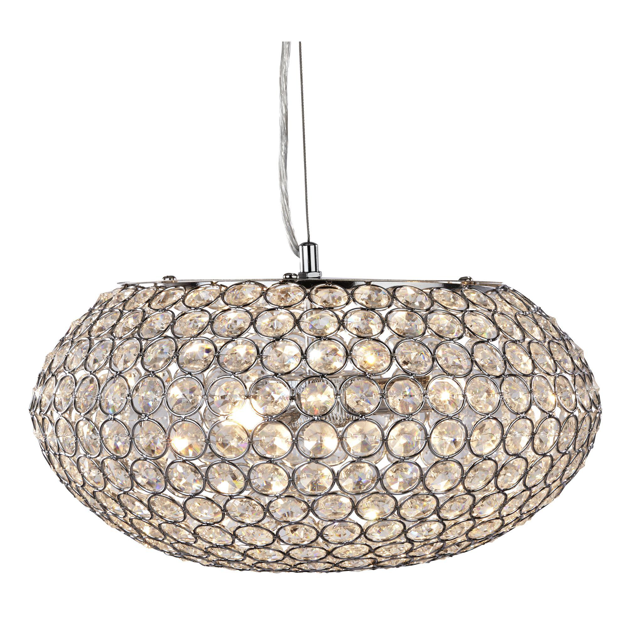 Searchlight Chantilly kristály lámpa